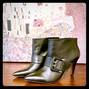 Stiletto Booties with Buckle